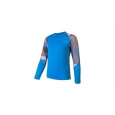 triko dlhé detské SENSOR MERINO IMPRESS + spodky set modrá / camo