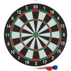 38 cm sisal dart board + 6 darts EB030232 / BT171524