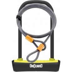 zámok OnGuard podkova 115x230x11 mm žltá + lanko 1200x10 mm
