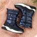 Waterproof snow boots Jr navy blue