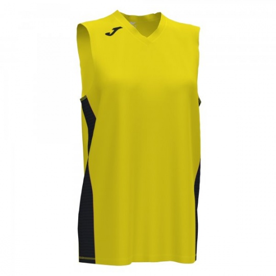 CANCHA III T-SHIRT YELLOW-BLACK SLEEVELESS