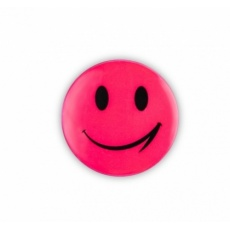 samolepka reflexní smajlík růžový