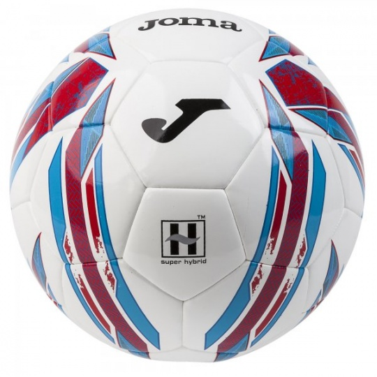 HALLEY HYBRID SOCCER BALL WHITE-CORAL SIZE 4
