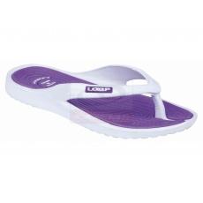 topánky dámske LOAP DUBLIN žabky bielo / fialové