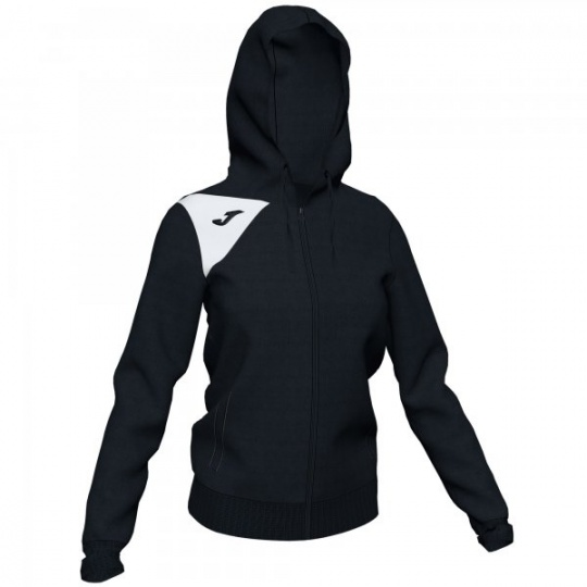 HOODED JACKET SPIKE II WOMAN BLACK-WHITE