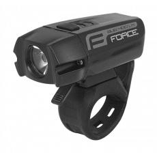 osvetlenie prednej FORCE BUG 400lm USB čierne