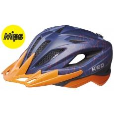 prilba KED Street Junior MIPS M blue orange 53-58 cm