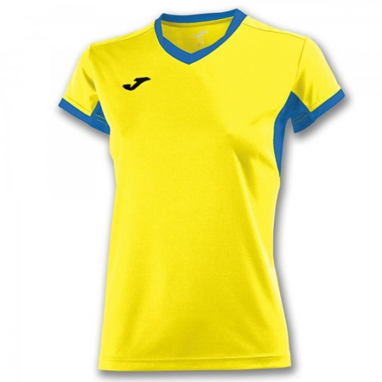 T-SHIRT CHAMPIONSHIP IV YELLOW-ROYAL S/S WOMAN