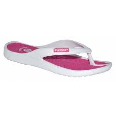 boty dámské LOAP FERA žabky bílo/růžové