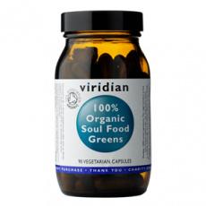 Soul Food Greens 90 kapsúl Organic (Zmes zelených superpotravín)