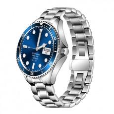 Watch, smartwatch Men 4S silver-blue, steel
