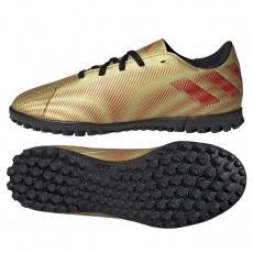 ADIDAS Nemeziz Messi.4 JR TF gold metallic/scarlet/core black Hnedá