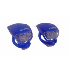 blikačka predné + zadné 4RACE LS03 silicon modré