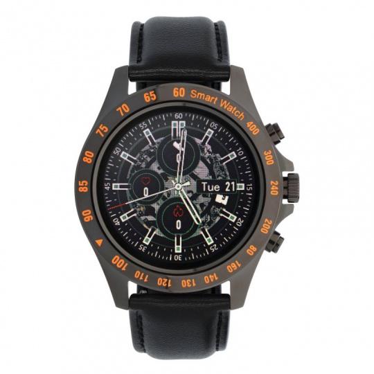Watch, smartwatch Men Style black, leather