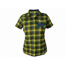 košeľa krátka dámska HAVEN Agness Slimfit modrá / žltá