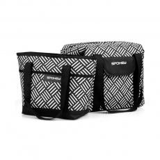 ACAPULCO Termo taška malá, čierno-biela, 39 x 15 x 27 cm