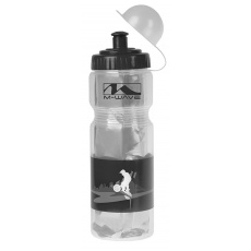 fľaša 0,4 l termo MIGHTY transparent / čierna
