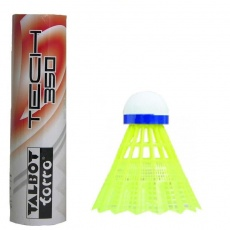 Badminton shuttlecocks TALBOT Torro Tech 350 Medium 6pcs yellow