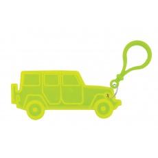přívěšek reflexní jeep žlutý