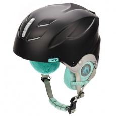 Meteor Lumi ski helmet black / mint 24861-24863
