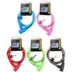 Bicycle lock cable lock D18mm 80 cm ST 5ass