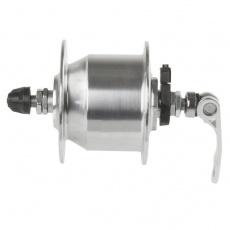 náboj dynamo 6V, 3.0W 36d strieborný rýchloupínací mechanizmus