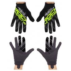 dlouhoprsté rukavice ROCK MACHINE Race zelené veľ.XL