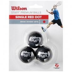 Squash balls Wilson Staff Premium Balls 3 pcs WRT618200