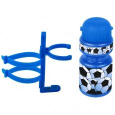 fľašu Ventura detská + držiak Futbal modrá
