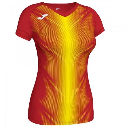 OLIMPIA T-SHIRT RED-YELLOW S/S WOMAN