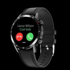 Watch, smartwatch Garett Gentleman GT black leather