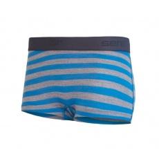 nohavičky dámske SENSOR MERINO ACTIVE s nohavičkou modro / sivé pruhy
