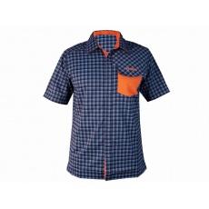 košeľa krátka pánska HAVEN Agness Slimfit modrá / oranžová