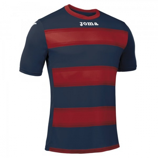 T-SHIRT EUROPA III NAVY-RED S/S