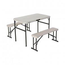 A set of two benches and a table 106cm 80352