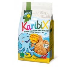 keksy ovesno-ovocné celozrnné KARIBIX bio Hohlsener Mühle 125g