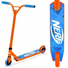 HASBRO STRIKE Kolobežka freestyle, kolieska 100 mm, zn. NERF, oranžovo-modrá