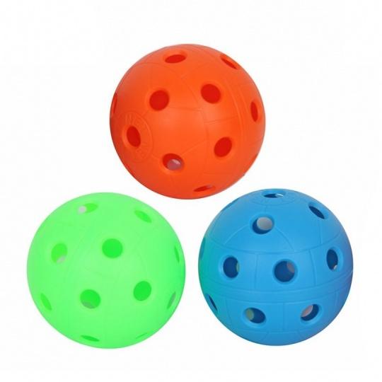 Florbalová lopta 3 ks rôzne farby