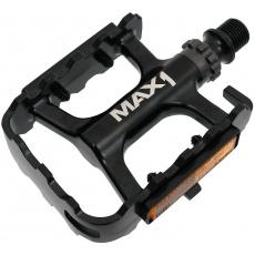pedále max1 Race ložiskové hliníkové čierne