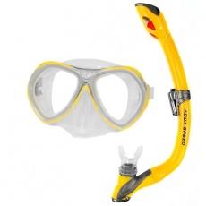Diving kit Aura + Evo Junior yellow