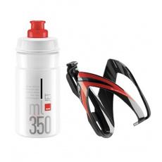 fľaša ELITE Jet 350 ml + košík Kit Ceo čierna / červená