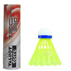 Badminton shuttlecocks TALBOT Torro Tech 350 Slow 6pcs yellow