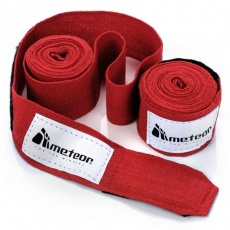 Boxing bandage Meteor 2.8 m 2 pieces red 24296