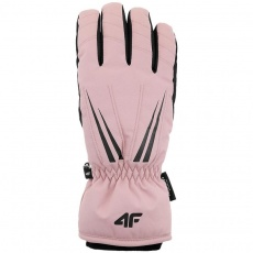 4F ski gloves light pink H4Z20-RED005