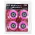 PU kolieska s ložiskami NILS EXTREME 64x24mm ABEC 7 ružové