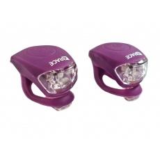 blikačka predné + zadné 4RACE LS03 silicon fialové