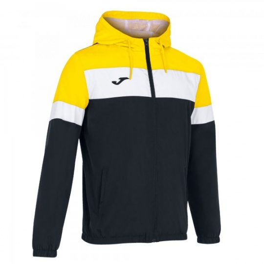 CREW IV RAINJACKET BLACK-YELLOW
