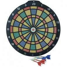 Plastic dart board 35 cm + 6 darts EB000837 / BT26904