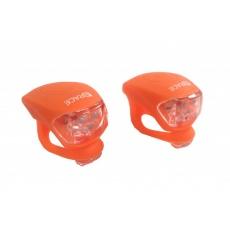 blikačka predné + zadné 4RACE LS03 silicon oranžová