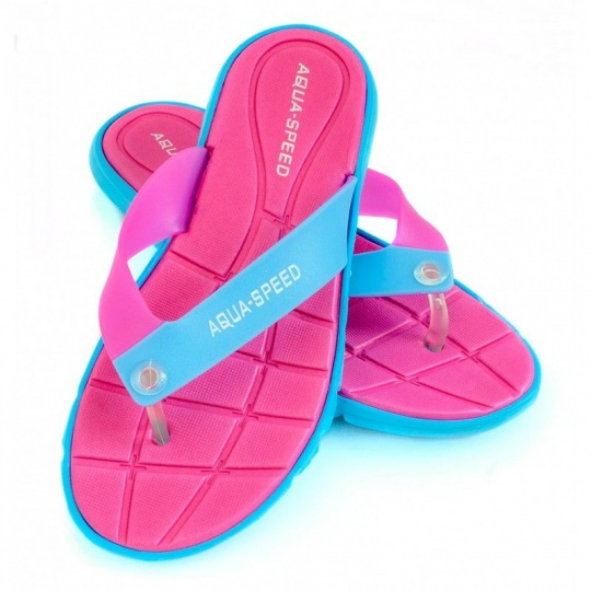 Aqua-Speed Bali slippers pink-blue 03 479